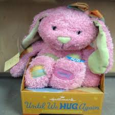 hallmark until we hug again plush 15 pink bunny walmart