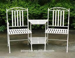 Heavy Duty Garden Benches 2 Seater Metal Garden Bench Ornate Cream Heavy Duty Steel Garden