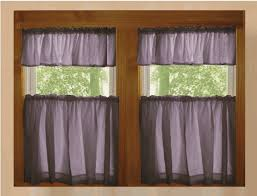 solid eggplant purple kitchen cafe tier curtains