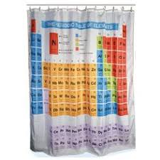 periodic table good morning shower curtain shower curtains