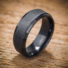 black zirconium wedding bands wedding rings mens black wedding rings uncommon mens black