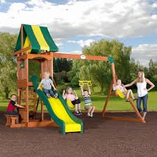 How To Build A Wooden Playset Backyard Discovery Weston Cedar Swing Set Walmart Com