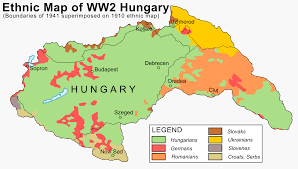 World Map Hungary by Ethnic Map Of Hungary In 1941 2000 1140 Mapporn