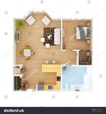 royalty free cad floor plan top view 1 bedroom 1 u2026 409594573