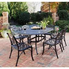 Black Iron Patio Chairs by Home Styles Biscayne Black 7 Piece Patio Dining Set 5554 338 The