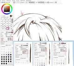 paint tool sai crayon settings by ayashige doodles on deviantart