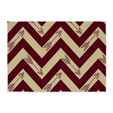 5 X 7 Area Rug Garnet U0026 Gold Arrows 5 U0027x7 U0027area Rug Arrow Fans And Gold