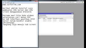 cara membuat vpn ip di mikrotik tutorial setting vpn server di mikrotik youtube