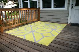 Outdoor Floor Rugs How To Paint An Outdoor Area Rug Checking In With Chelsea