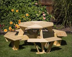 Hexagon Wood Picnic Table Plans by Exteriors Plywood Picnic Table Picnic Table Chairs Picnic Table