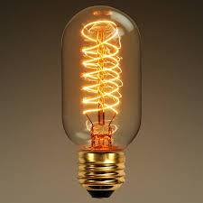 light bulb old style 40 watt vintage light bulb tinted radio type
