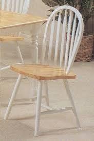 White And Wood Dining Chairs Windsor Dining Chairs Foter