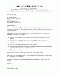 cover letter sample for hr position cover letter examples for