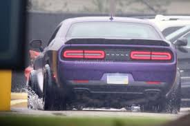 widebody hellcat colors dodge challenger hellcat adr spied is a widebody sore thumb