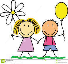 friends friendship kids drawing illustration stock vector