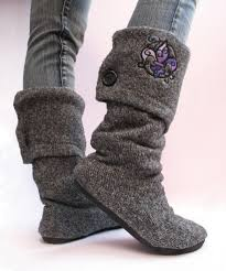 sweater boots upcycled sweater boots 11 steps with pictures