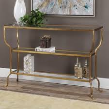 Celina Tent 72 Round Table Console Table With Gold Legs Wayfair