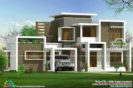 beautiful box type contemporary home kerala home design box type