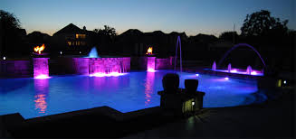 Dallas Outdoor Lighting by Dallas Geometric Pool Design Gallery Frisco Plano Pool