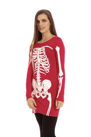 skeleton bones halloween womens jersey skeleton bones halloween ladiesbodycon tunic t shirt