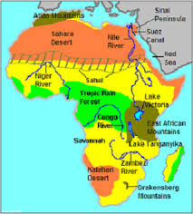 africa map study geography of africa study