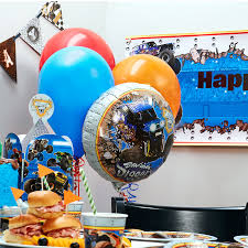 monster truck jam party supplies monster jam 3d party in a box for 8 birthdayexpress com
