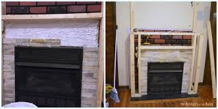 Small Bedroom Fireplace Surround Diy Budget Fireplace Surround Makeover From The Boring Brown