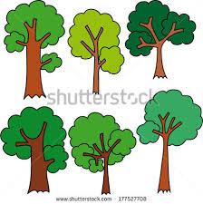 cute trees vector tree set illustration set variety stock vector 84475894