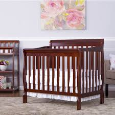 Solid Wood Mini Crib by Dream On Me Aden Convertible 4 In 1 Mini Crib Espresso Babies