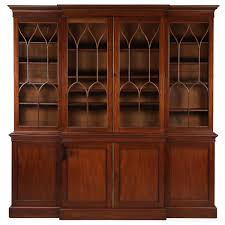 american federal mahogany library bookcase breakfront cabinet