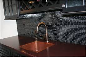 black and white glass tile backsplash tiles home design ideas