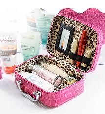 Vanity Box Fuchsia Small Storage Make Up Box Cosmetic Vanity Case Ideal