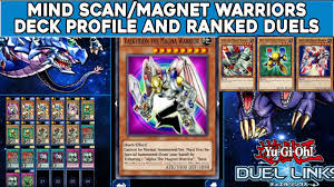 yugioh duel links mind scan magnet warriors profile and ranked