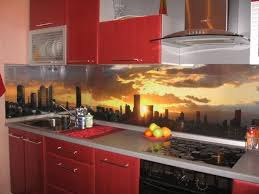 backsplash panels for kitchens colorful glass backsplash ideas adding digital prints to modern