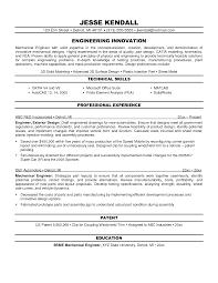 Sample Resume For Mechanical Engineer Fresher by Awesome Sample Resume For Mechanical Engineers With Resume Sample