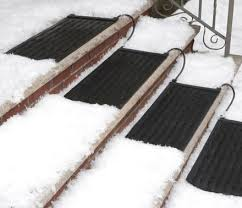 these heated stair mats melt snow and ice from your outdoor stairs