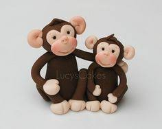 monkey cake topper custom monkey cake topper for birthday or baby shower by carlyace