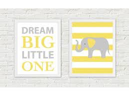 2 prints animal nursery art print for home elephant wall decor
