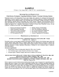Sample Resume Senior Financial Services Operational Management p