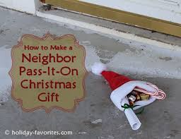 neighbor pass it on christmas gift idea holiday favorites