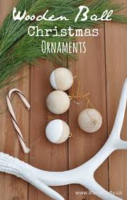 wooden ball christmas ornaments life is a party