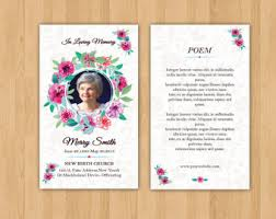 prayer cards for funeral funeral bookmark etsy