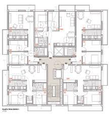 Apartment Block Floor Plans Mirag Millet Ramoneda Jordi Surroca Social Housing In Sentmenat