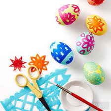 paper easter eggs creative ways to dye easter eggs from better homes and gardens