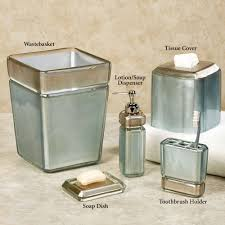 Glass Bathroom Accessories by Bath U0026 Shower Exquisite Croscill Bath Accessories With Beautiful