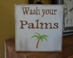 Palm Tree Bathroom Accessories by Tree Wall Decor Etsy
