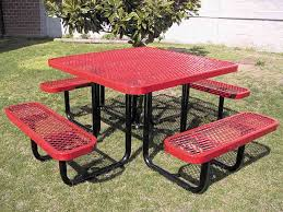 leisure craft picnic tables site furnishings play it safe playgrounds park equipment