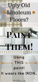 how to paint linoleum kitchen floors
