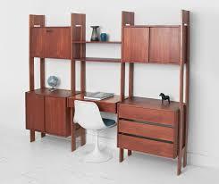 Mid Century Office Furniture by Vintage Modular Teak Wall Unit Mid Century Modern Shelving
