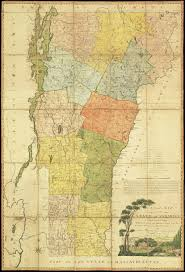 Map Of Vt A Landmark In Vermont Cartography Rare U0026 Antique Maps